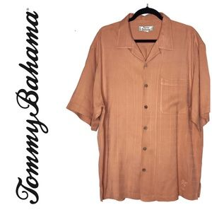 Tommy Bahama 100% Silk Button Front Mens Shirt